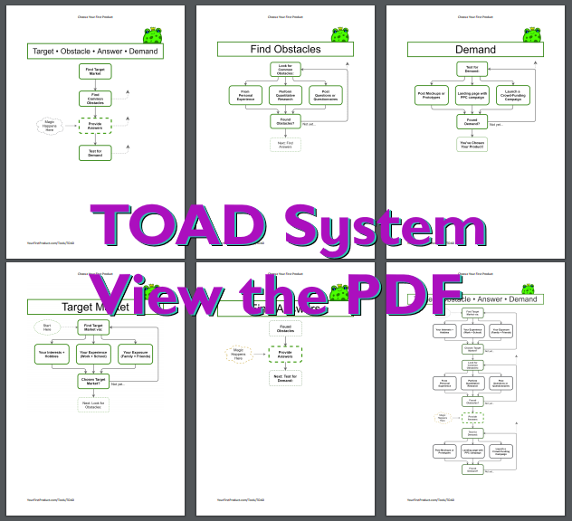 Toad System Download the PDF