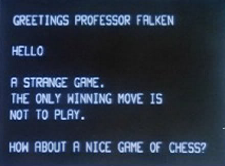 wargames movie quote: the only winning move is not to play
